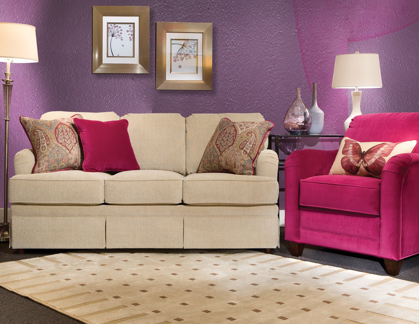 9000 35 CharleyT Skirted sofa LV