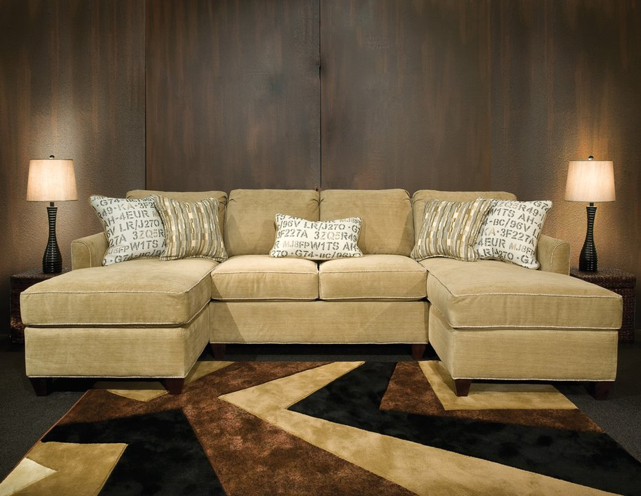 9000 Simply Yours Tear Drop Arm Double Chaise Sectional