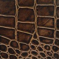 Croco Chocolate Leather