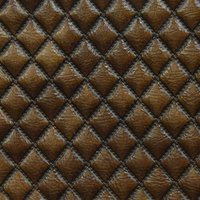 Quilted Chocolate Leather