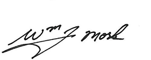 William J. Mork Signature